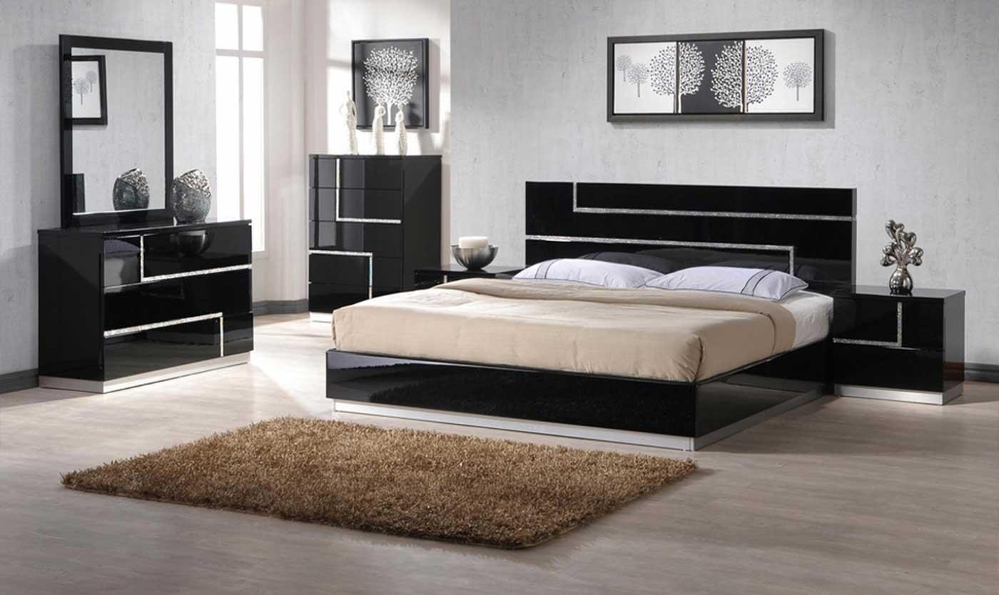 Modern bedroom black - Bedrooms Dari Home Center
